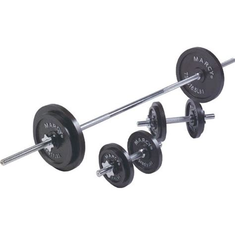 Barbel Fullset marcy 35kg cast iron barbell and dumbbell set sweatband