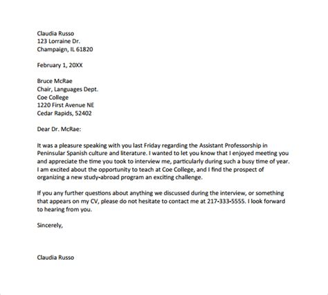 sle formal thank you letter 9 free