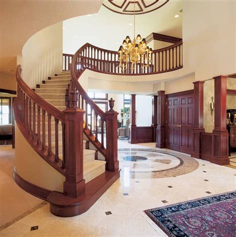 house plans with curved staircase 10 home plans with sensational staircases