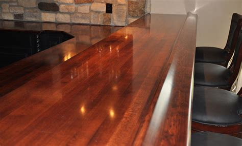 bar top rail maple wood bar top rail by grothouse traditional