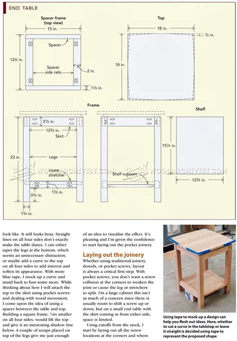how to build an end table with a drawer build end table woodarchivist