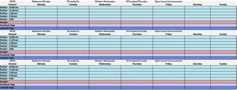 how to make a schedule in excel how to create a weekly schedule in