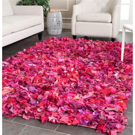 fuschia area rug safavieh shag fuchsia multi 6 ft x 9 ft area rug