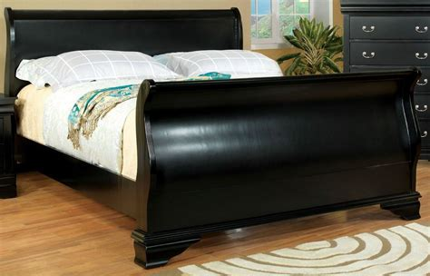 black sleigh bed laurelle black king sleigh bed cm7815bk ek bed furniture