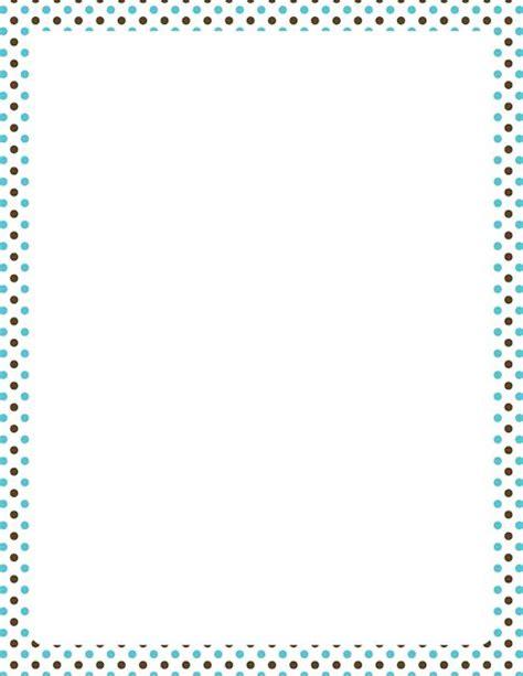 printable polka dot border paper printable blue and brown polka dot border free gif jpg