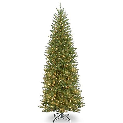 10 foot slim christmas tree national tree company slim dunhill fir pre lit tree with clear lights bed bath beyond