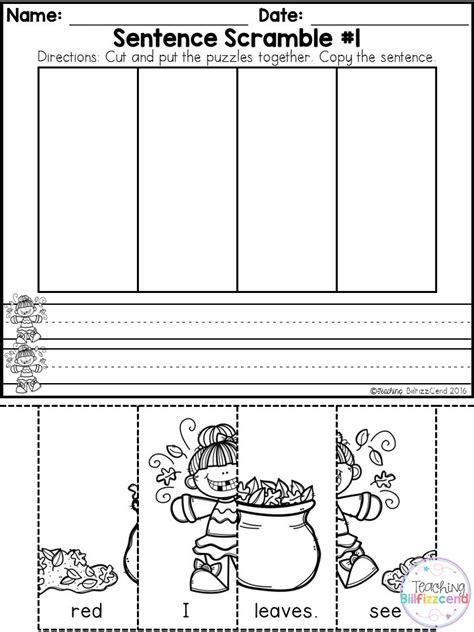 Kindergarten Sentence Building Worksheets by 25 Best Ideas About Preschool Writing Centers On