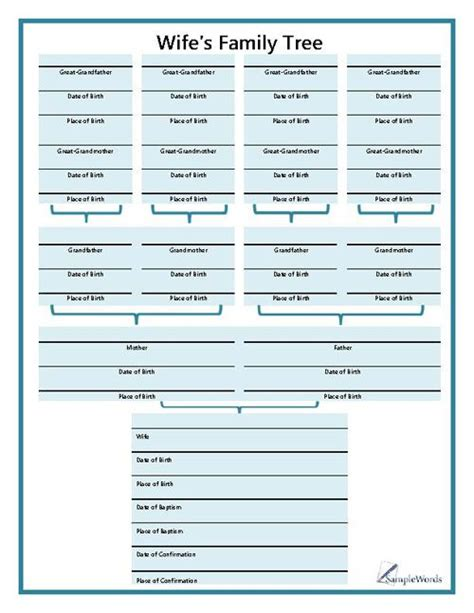 online printable family tree charts chart printable forms templates sles family tree