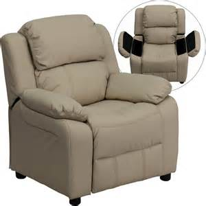 flash furniture kids vinyl recliner with storage arms
