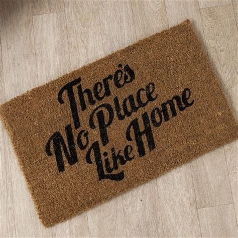 Home Doormat There S No Place Like Home Doormat Contemporary