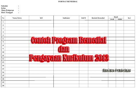 format buku remedial dan pengayaan contoh program remedial dan pengayaan k13 tahun 2017 2018