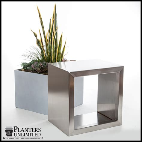 Stainless Steel Planters by Metal Plant Containers Stainless Steel Planter Planters
