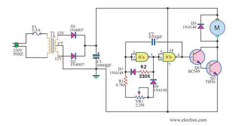 transistor motor driver circuit this is simple pwm motor circuit using ic 4011 can adjust speed of 12v small motor use