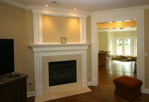 Fireplace Trim Ideas by Custom Fireplace Mantles Build Ins Traditional Living