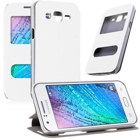 Flipcase Samsung Galaxy J5 New by Luxury Leather Window View Flip Cover Stand For