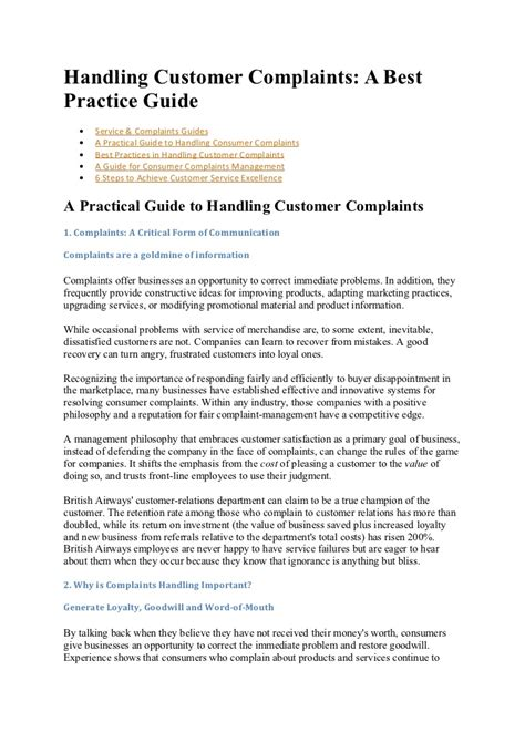 Customer Complaint Letter Doc customer complaint form exles previousnext sle