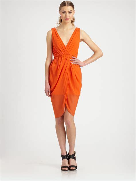 Dress Tulip cynthia silk tulip dress in orange lyst