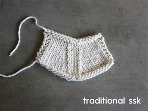 ssk knitting a neater way to ssk tutorials stitches and knits