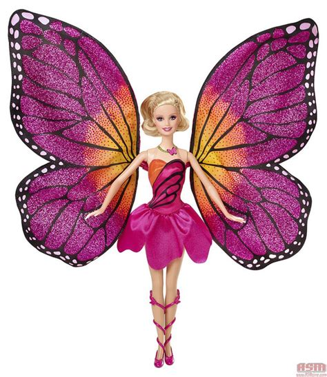 The Mariposa transforming doll with her wings opened