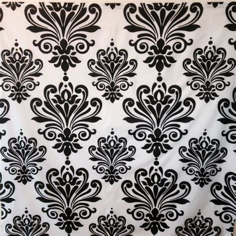 black and white drapery fabric black and white damask fabric shower curtain ebay