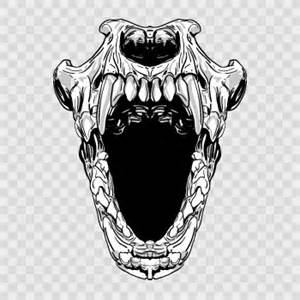 Stickers factory decal terror skull open mouth 02443 by stickers