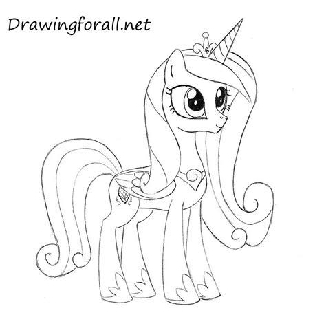 Princess Cadence Drawing how to draw princess cadence drawingforall net