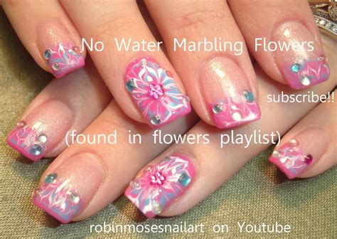 Nails Blumen by Robin Moses Nail No Water Marble Flower Nail