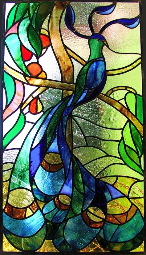 spall stained glass peacock Ꮥtained Ꮆlass ಌ