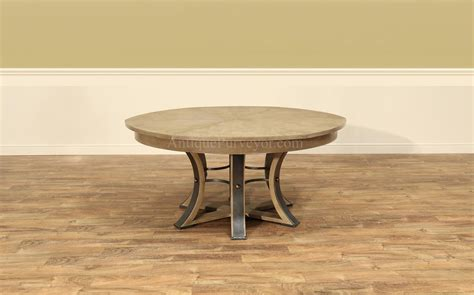 jupe table transitional jupe table  hammered iron
