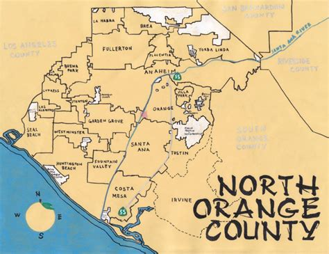 orange california map orange county images
