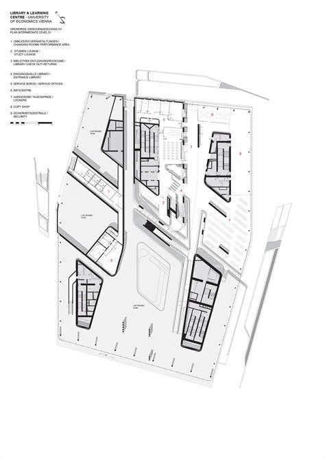 zaha hadid floor plan gallery of library and learning centre university of
