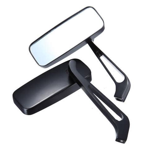 8mm 10mm Aluminum Motorcycle Rectangle Rearview Side Mirror Universal rectangle rear view mirrors for harley softail sportster