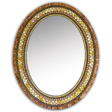 Vanities Jewelry And Gifts Golden Bronze Mosaic Mirror By Angie Heinrich Mosaic