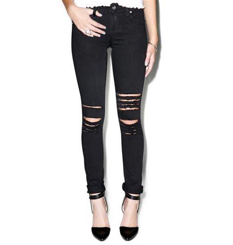 rough n rowdy tripp nyc rough n rowdy knee slit jeans dolls kill