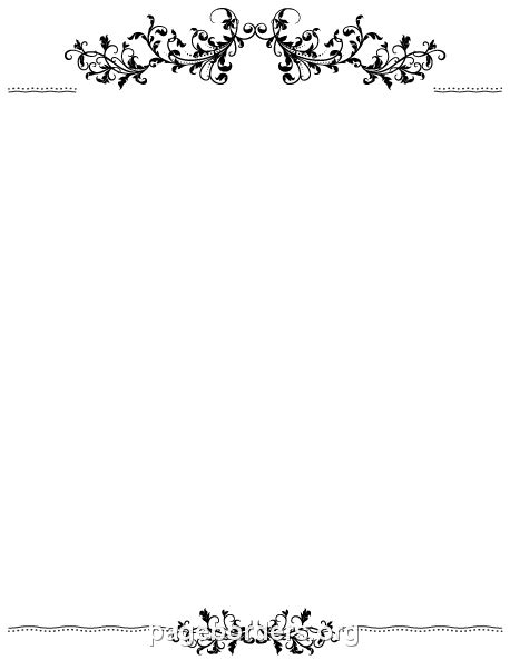 Pin By Muse Printables On Page Borders And Border Clip Art Flourish Border Borders For Paper Microsoft Word Frame Templates