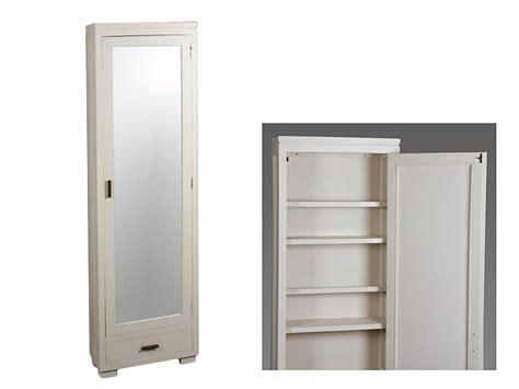 mueble zapatero estrecho zapatero beige estrecho de madera de acacia con espejo