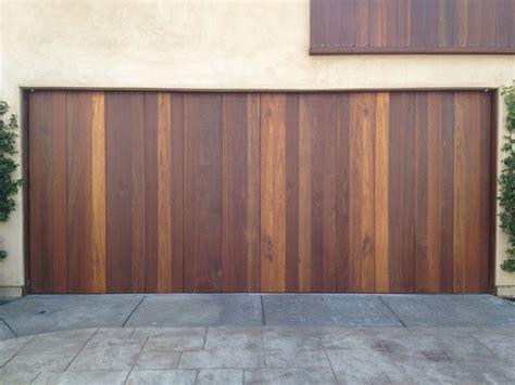 beautiful beach custom wood vertical redwood garage door