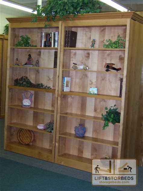 sliding bookcase murphy bed murphy library beds for your home lift stor beds