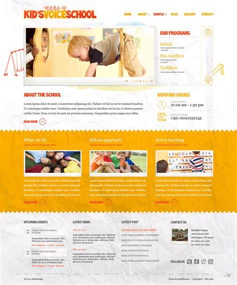 themeforest voice kids voice school by aislin themeforest