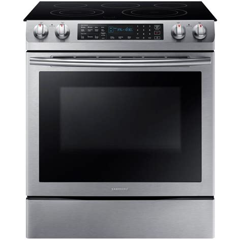 Samsung Oven Samsung 5 8 Cu Ft Slide In Electric Range With Self Cleaning Dual Convection Oven In Stainless