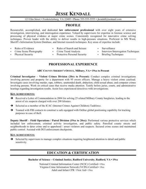 police officer resume samples  experience resume