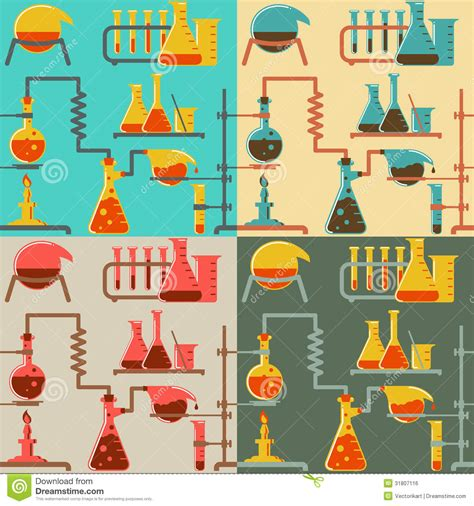 Chemistry And Science Concepts Seamless chemistry pattern royalty free stock image image 31807116