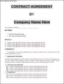 Contract Of Agreement Template contract agreement template word excel formats