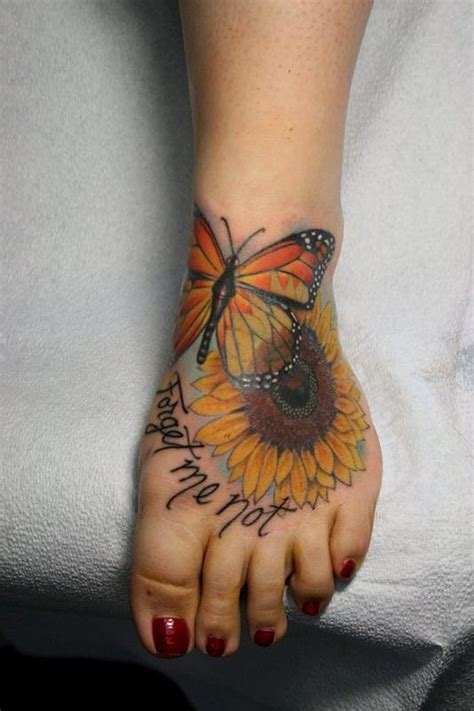 butterfly and sunflower tattoo designs the map tattoos femine butterfly