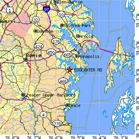 edgewater maryland map edgewater maryland md population data races housing