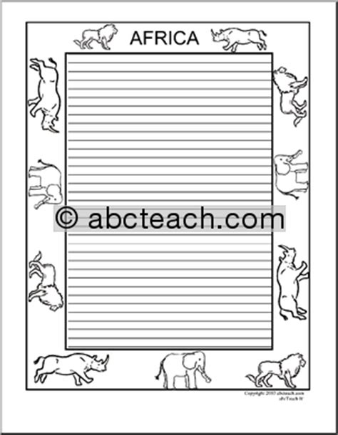 animal border writing paper 5 best images of animal border paper printable free