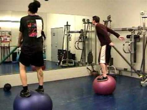 fitness fun standing  exercise ball training workout youtube