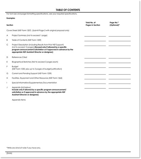 18 table of contents templates with guide on how to create table of contents 18 table of contents templates with guide on how to create table of contents