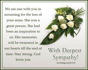 Sympathy messages for loss of a mother wordings and messages