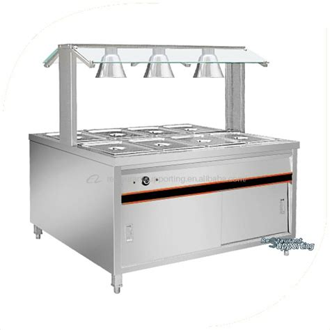 catering equipment stainless steel electric kitchen equipment buffet stainless steel table top